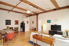 Own this smartly updated two-bedroom West Loop timber loft for $369K - Curbed Chicagoclockmenumore-arrow : The home features a new kitchen, spa-like bathroom, and fully enclosed bedrooms