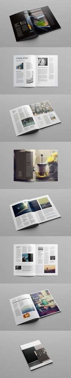 A 3 column grid magazine template; all fonts & images used are free. Our designers will customize this template and update with your content. Brochure Template, Free Brochure, Free Magazines, Grid Layouts, Magazine Template, All Fonts, Free Photos, Creative Design, Graphic Design