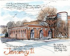 Urban Sketchers Midwest: Out and about this past week...Independence and Liberty, MO