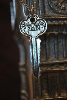 221 B Baker St. Sherlock Holmes Key Necklace or Keychain. Great for fans of the … 221 B Baker St. Sherlock Holmes Key Necklace or Keychain. Great for fans of the books, movies, or BBC show! Sherlock Holmes, Jim Moriarty, Sherlock John, Sherlock Quotes, Sherlock Poster, Watson Sherlock, Benedict Cumberbatch, Sherlock Cumberbatch, 221b Baker Street