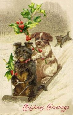 1000+ images about VINTAGE CHRISTMAS CARDS on Pinterest | Vintage ...
