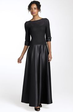 Charming Bateau 3/4-length Sleeves Ankle-Length Mother of the Bride Dress