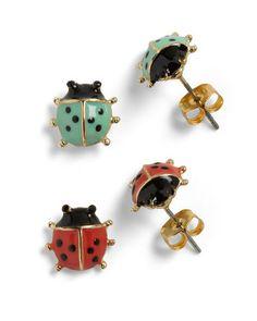 $17Lord and Ladybug Earrings