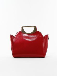 Patent Side Ribbed Satchel