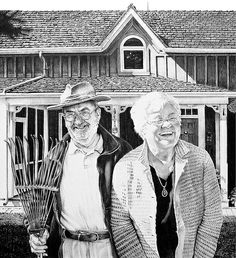 Ronald and Jean Higgins Silverpoint, Philippine Art, Technical Pen, Ballpen, First Art, Portrait Illustration, Ballpoint Pen, Paper Size, Watercolor Paper