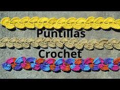 Como tejer Puntilla verticales a crochet o ganchillo tutorial paso a paso. - YouTube
