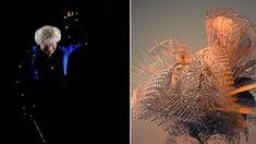 """I gesti del direttore d'orchestra Sir Simon Rattle si trasformano in colorate e dinamiche trame 3D, sviluppando un linguaggio visivo super-tecnologico e di grande impatto.  """"I movimenti di Rattle sono stati registrati facendo indossare al direttore d'orchestra un abito adattato per la motion capture, utilizzando bacchette modificate per estrapolarne gli spostamenti orizzontali e verticali, e dodici telecamere Vicon Vantage, che hanno permesso di cogliere 120 fotogrammi al secondo..."""