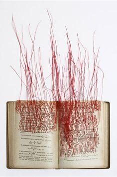 'Les racines carrées' (2010) by fiber artist Mireille Vautier. via textile arts center