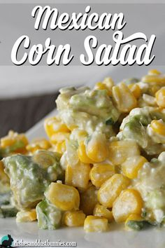 Mexican Corn Salad from dishesanddustbunnies.com