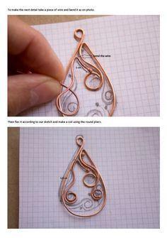 Wire Wrap Tutorial Earrings tutorial Wire от StasyaWireWrap #wirejewelry