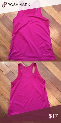 🎉SALE! Nike dri-fit tank magenta size medium Nike dri-fit tank like new! Worn and washed once. Great deep magenta color. Super lightweight and breathable Nike Tops Tank Tops
