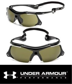 a04264519d Under Armour UA THIEF Sunglasses Mens Black Baseball Sport Flip Up Game Day  Lens  Sunglasses