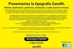 Tipografía Gandhi desarrollada en México con licencia libre