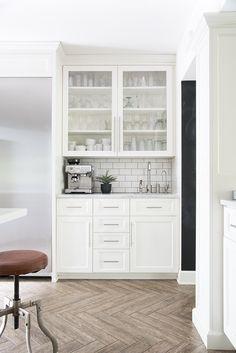 Coffee Bar in White Kitchen