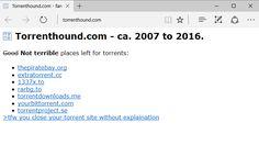 TorrentHound es el tercer gran sitio de torrents que ha cerrado en los últimos meses #Internet #Descargas #P2P