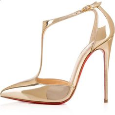 Christian Louboutin J String (€860) ❤ liked on Polyvore featuring shoes, pumps, heels, christian louboutin shoes, leather pointy toe pumps, t strap shoes, high heel pumps и sexy high heel shoes