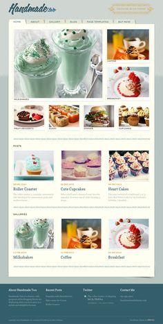 Handmade Two WordPress Food Blog Theme