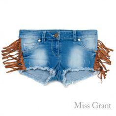 #missgrant DENIM SHORTS WITH FRINGES. Sale 50% off Spring&Summer Collection! #discount