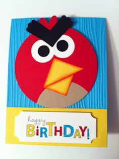 Pink Paper Bakery: Angry Bird Birthday Card