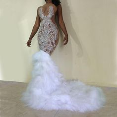 Azure Nude Crystal Gown with or without feather train Diamond Prom Dresses, Black Girl Prom Dresses, Senior Prom Dresses, African Prom Dresses, Pretty Prom Dresses, Prom Outfits, Prom Dresses With Sleeves, Mermaid Prom Dresses, Beautiful Dresses