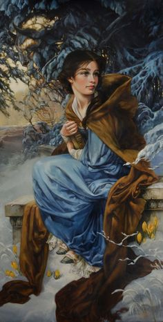 Oil painting of Belle - I can so see this as Jo March.