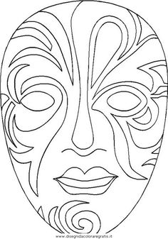 Colouring Pages, Adult Coloring Pages, Coloring Sheets, Coloring Books, African Masks, African Art, Mascara Papel Mache, Mask Painting, Carnival Masks
