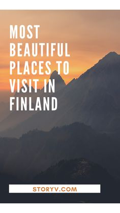 Most Beautiful Places To Visit In Finland - StoryV Travel & Lifestyle European Road Trip, European Travel Tips, Europe Travel Guide, Travel Plan, Travel Ideas, Croatia Travel, Thailand Travel, Bangkok Thailand, Italy Travel