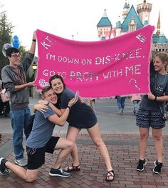 Formal Proposals, Cute Prom Proposals, Homecoming Proposal, Cute Relationship Goals, Cute Relationships, Disney Promposals, Prom Pictures, Prom Pics, Asking To Prom