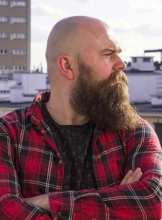 85 Long Beards Style to Make You Look Charming Bald Men With Beards, Bald With Beard, Beard Fade, Beard Boy, Red Beard, Great Beards, Long Beards, Awesome Beards, Shaved Head With Beard