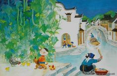 "Zhou Jianming ""相约杭州""中国儿童插画师,周建明老师 - ""相约杭州""中国插画师的文集 - 博客(聚艺厅) - 艺术国际 Artintern.net Drawing For Kids, Kids Bedroom, Children, Illustration, Painting, Art, Boys, Kids, Illustrations"