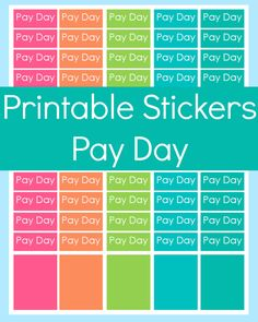 New to CommandCenter on Etsy: Erin Condren Planner Stickers Pay Day Planner Stickers Pay Day Stickers Printable Erin Condren Stickers Printable Planner Stickers (0.99 USD)