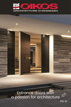 Luxury Modern Homes, Front Door Design, New House Plans, House Entrance, Modern House Design, Custom Homes, Modern Architecture, Villa, New Homes