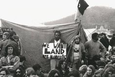 """We want LAND, not handouts"" — a man holds his sign next to the Aboriginal Tent Embassy in Canberra, Australia, set up after the government rejected a proposal to return indigenous lands, offering instead to conditionally lease land to Aborigines wit Aboriginal Man, Aboriginal History, Australian People, Hands On Hips, Disabled People, Teacher Notes, Civil Rights Movement, National Museum, Tent"