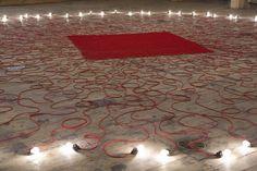 Exhibitions MONA HATOUM - Undercurrent (red)