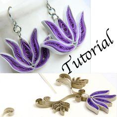 Papier Quilling tutoriel pour bijoux PDF fleur de Lotus et Lotus Frame Design bricolage mariage