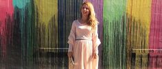 Biscuit Pain Wall - Three Heel Clicks #pink #tulle #sweater #biscuitpaintwall #houston #montrose #travel #holiday #blush
