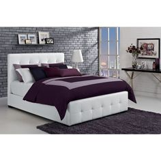 Comfortable and stylish, this bed has 24 wooden slats for additional support. It does not require a box spring, for added convenience.