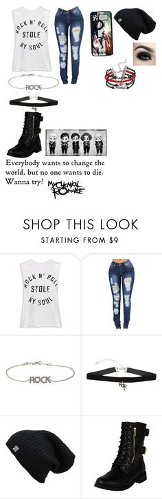 """""""MCR"""" by mini-lucifer ❤ liked on Polyvore featuring Sans Souci, Samsung, Zadig & Voltaire and Hot Topic"""