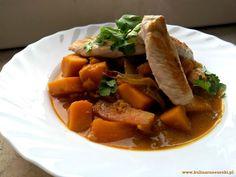 Curry z dyni z kurczakiem
