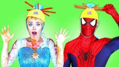 Spiderman & Elsa Wet Head-Elsa- Elsa Frozen-Spider-Spiderman-Anna-Malefi...