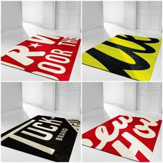 I want a fun rug. Love the yellow one! Hgtv Designers, Rugs On Carpet, Carpets, Cool Rugs, Blog Design, Next At Home, Beautiful Space, Dorm Decorations, Vibrant Colors