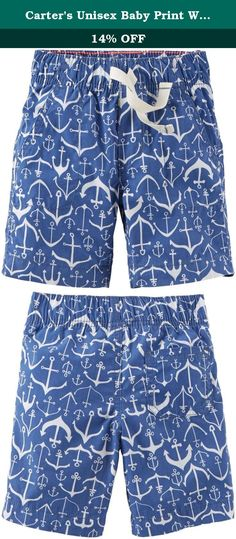 Carter's Unisex Baby Print Woven Shorts (Baby) - Anchors - 3M. Carters Print Woven Shorts (Baby) - Anchors Carter's is the leading brand of children's clothing gifts and accessories in America selling more than 10 products for every child born in the U.S. Their designs are based on a heritage of quality and innovation that has earned them the trust of generations of families.