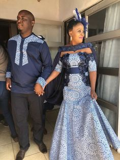As Shweshwe continues to extend in demand and popularity, we should always expect to envision it bec African Print Wedding Dress, African Wedding Attire, Latest African Fashion Dresses, African Print Fashion, African Prints, South African Traditional Dresses, African Dress, African Lace, African Style