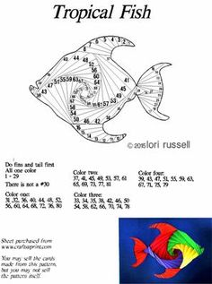 Tropical Fish on Craftsuprint designed by Lori Russell - Fun, colorful and easy to make! - Now available for download!
