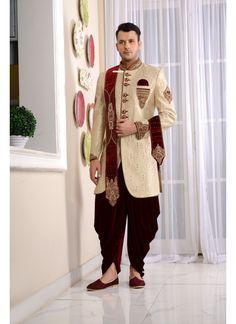 New Wedding Dresses Indian Men Sherwani Ideas New Wedding Dress Indian, Indian Wedding Clothes For Men, Wedding Dress Men, Indian Wedding Outfits, Indian Outfits, Bridal Outfits, Wedding Wear, Wedding Groom, Indian Bridal