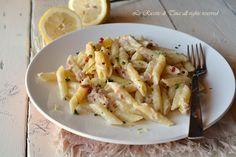 pasta al tonno e limone,pasta al tonno,pasta veloce,primo facile,primo veloce,le ricette di tina