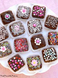 Pink Piccadilly Pastries: Brownie Bites for Valentine's Day