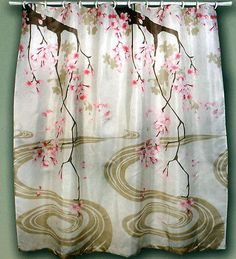 Cherry Blossom Shower Curtain In Shower Curtains