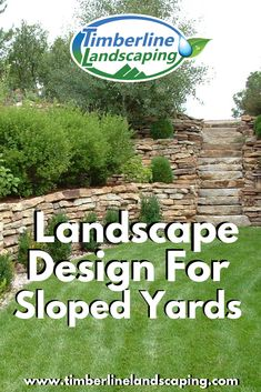 Landscape Design For Sloped Yards Residential Landscaping, Home Landscaping, Outdoor Spaces, Outdoor Living, Landscape Design, Garden Design, Sloped Yard, Green Lawn, Home And Garden