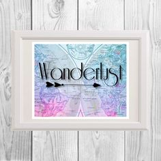 Wanderlust Travel Quote Travel Poster, Travel by MinnesotaPrintCo